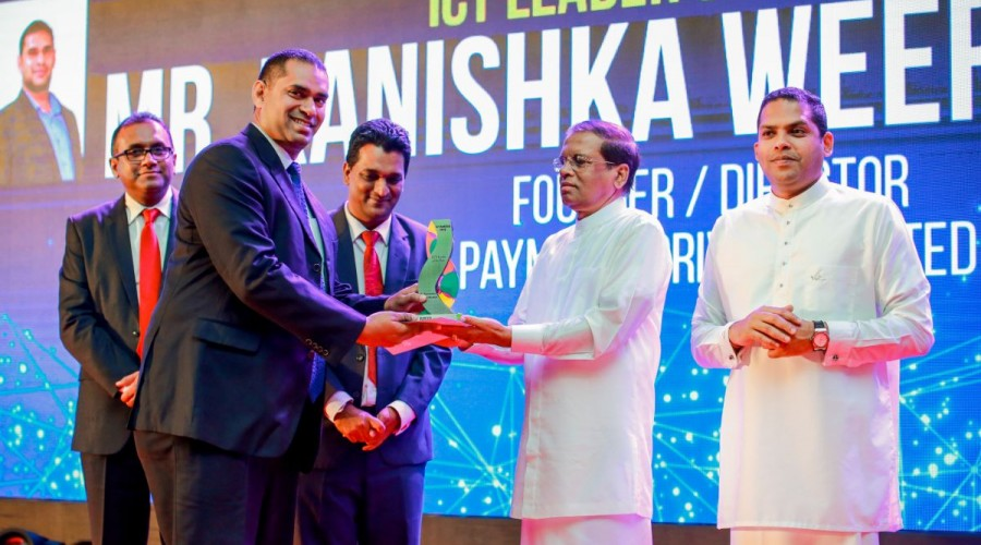 "CSSL awards Kanishka Weeramunda with ""ICT Leader of The Year 2018"""